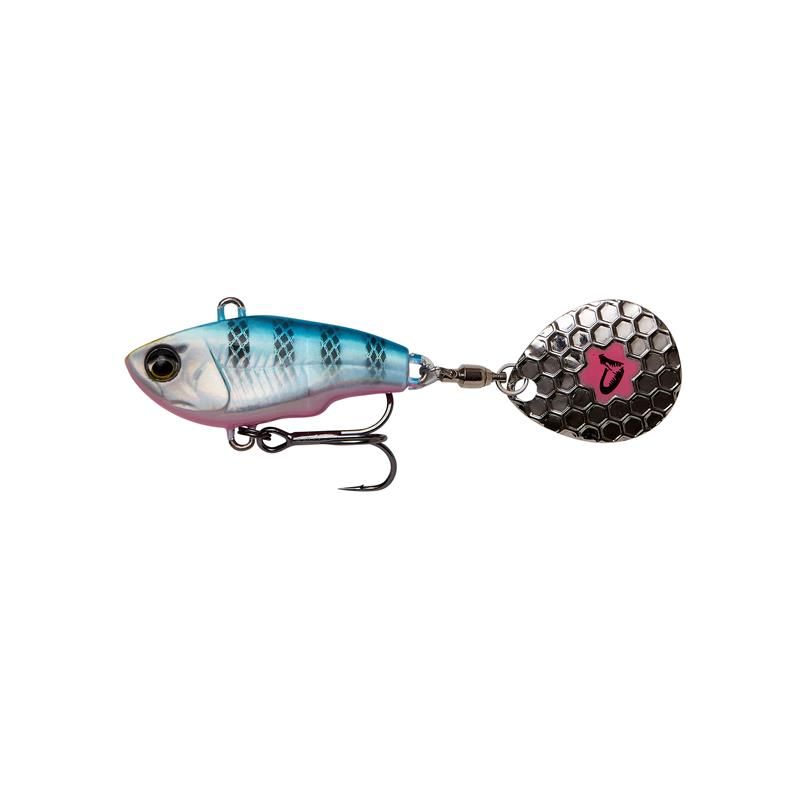 Savage Gear Fat tail Spin 6,5cm, 16g Blue Silver