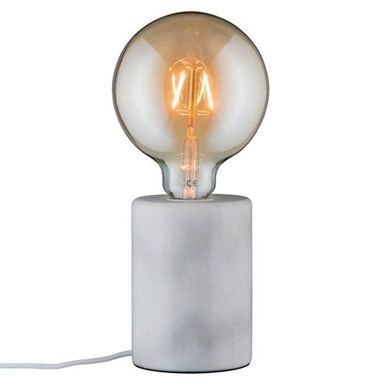 Valkoinen puristinen marmoripöytälamppu Nordin