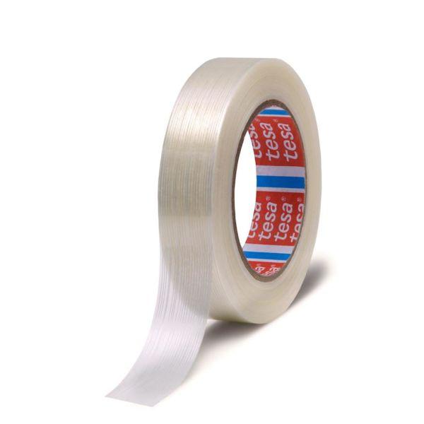 Tesa 4590 Pakkausteippi läpinäkyvä, lasikuituvahvistus 50 m x 25 mm