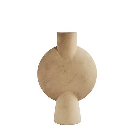 Sphere Vase Bubl Hexa Sand