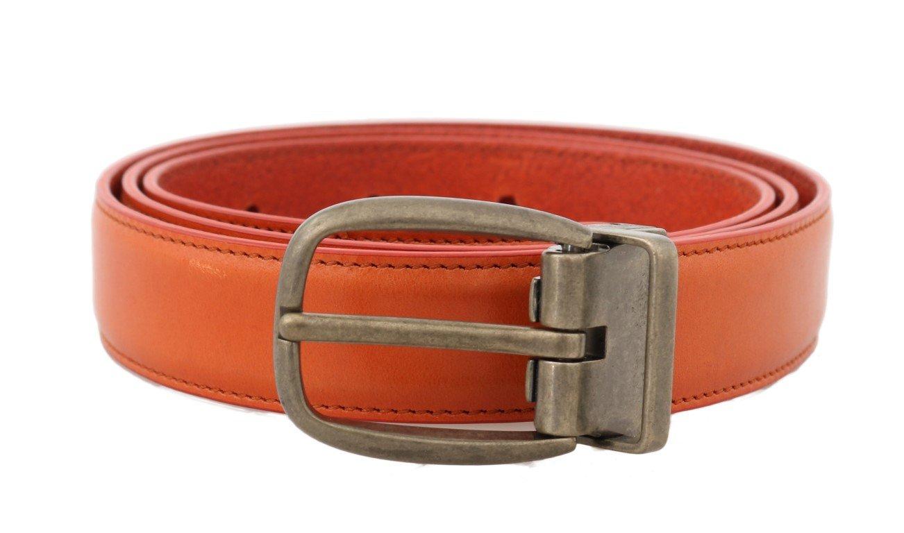 Dolce & Gabbana Men's Leather Buckle Belt Gold BEL50021 - 100 cm / 40 Inches