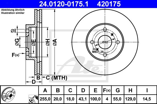 Jarrulevy ATE 24.0120-0175.1