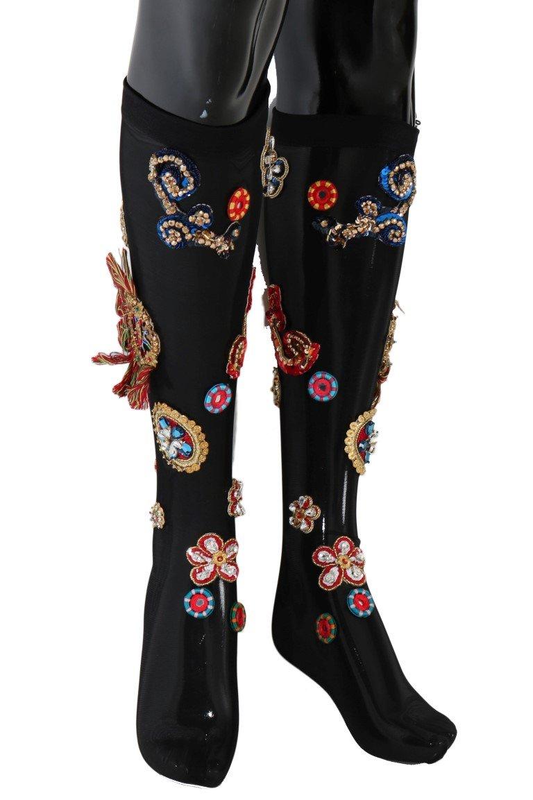 Dolce & Gabbana Women's Socks Black SCS60 - S