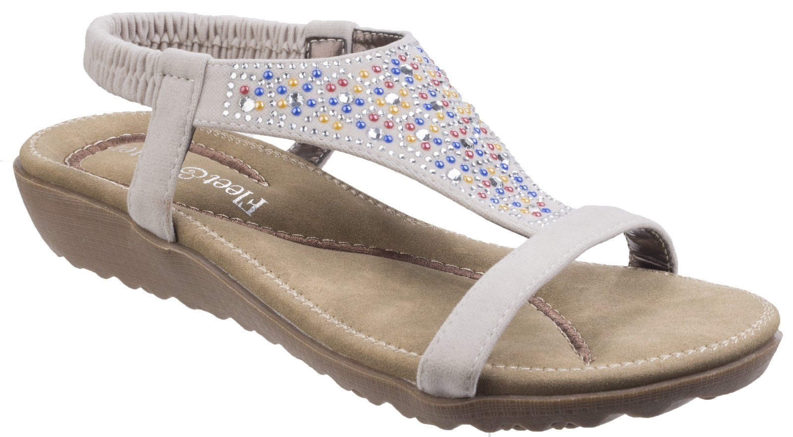 Fleet & Foster Women's Nicosia Slingback Sandal Various Colours 23732 - White 3