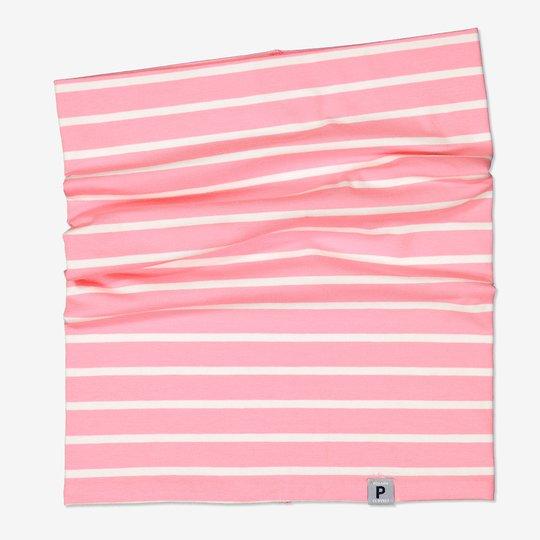 Stripet tubeskjerf lysrosa