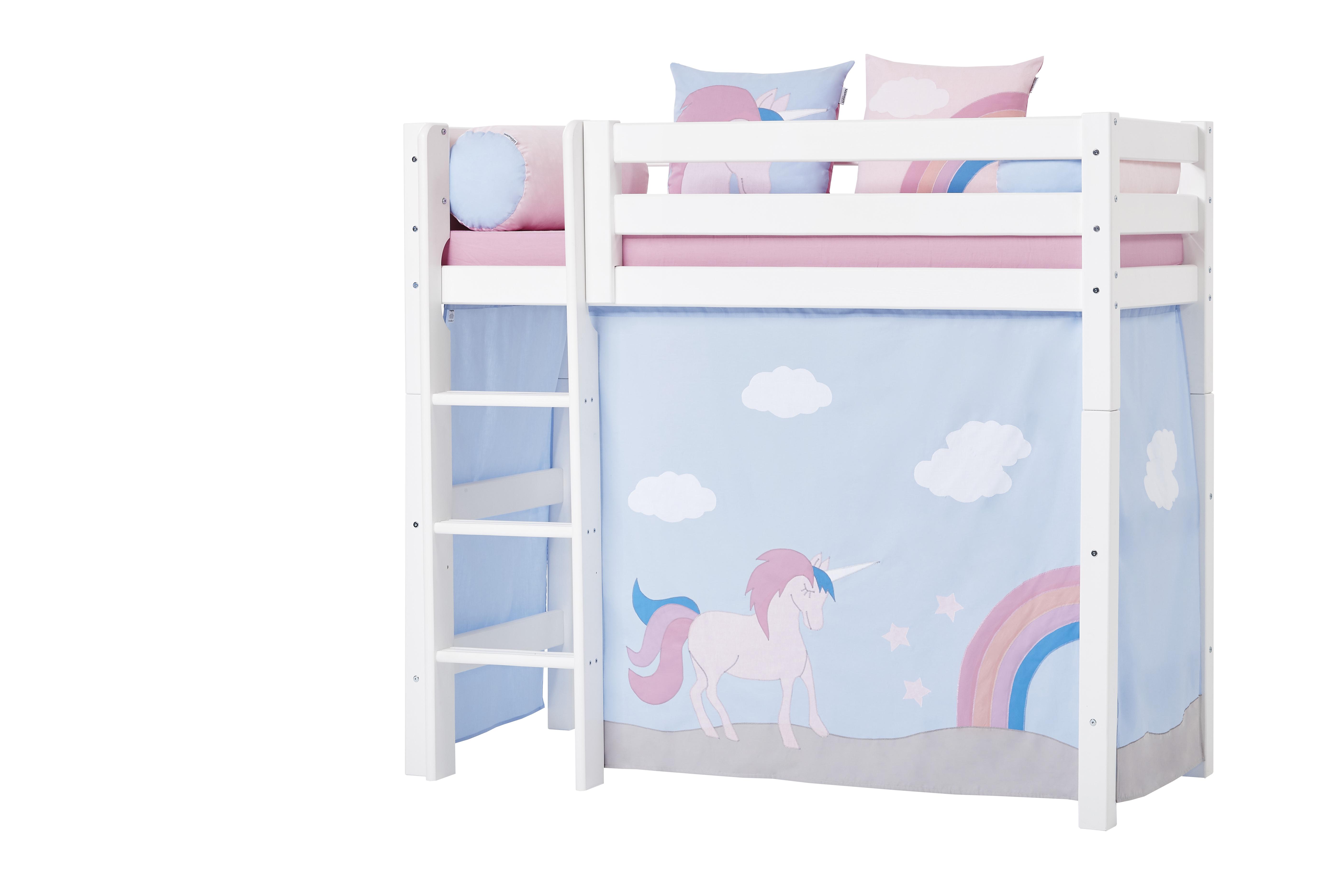 Hoppekids - Play Curtain Mid-High Bed 70x160 cm - Unicorn