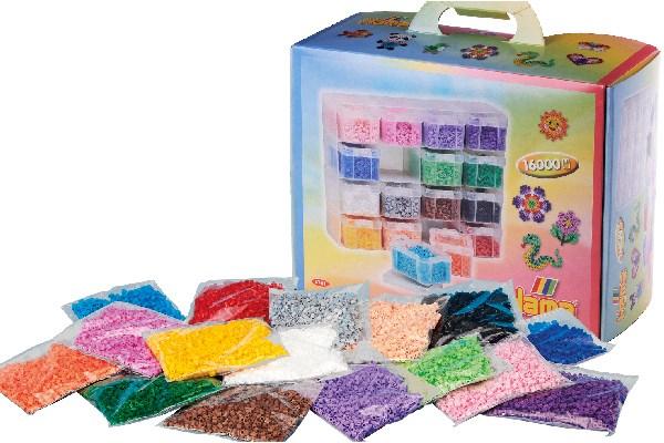 HAMA - Large Storage box w/ Midi beads & 16 compartments (6761)