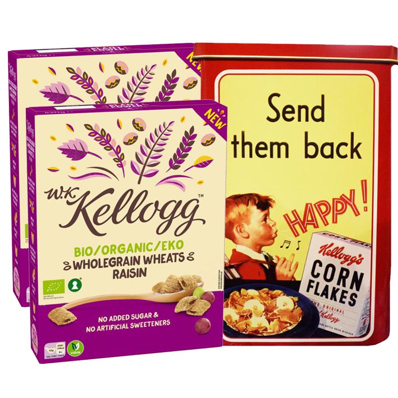 Kellogg's Fullkornsvete + Retro Plåtburk - 91% rabatt