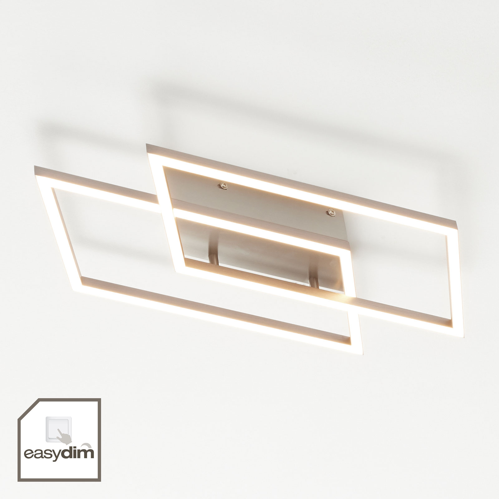Kaksilamppuinen LED-kattovalaisin Inigo, 53,8 cm