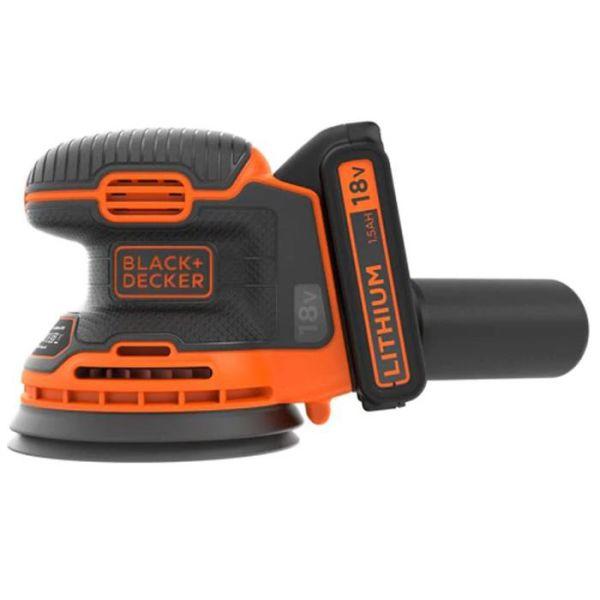 Black & Decker BDCROS18-QW Slipemaskin med batteri og lader