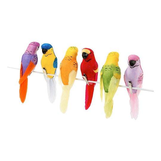 Tropiska Fåglar Dekoration - 6-pack