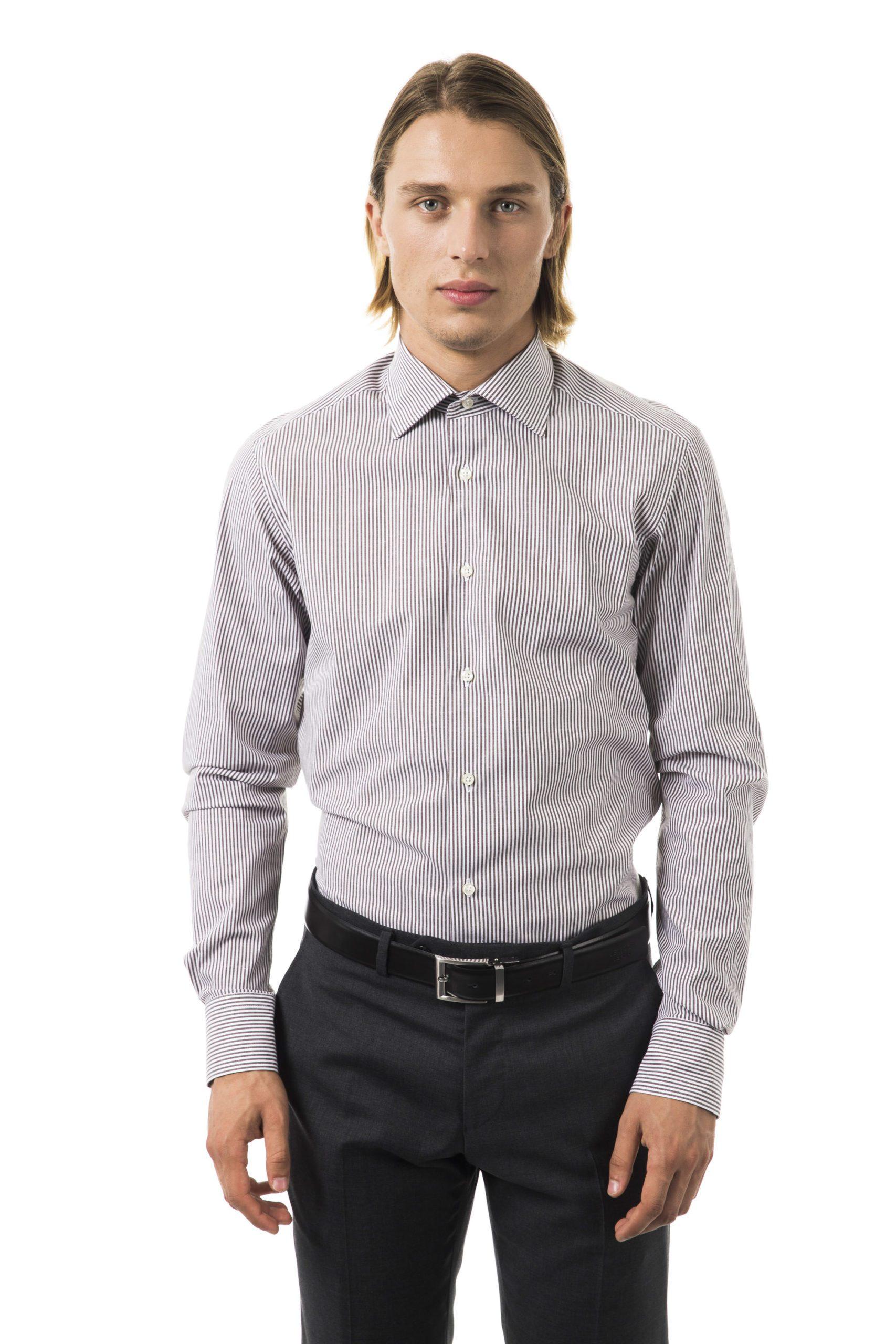 Uominitaliani Men's Moro Shirt Brown UO1394650 - M