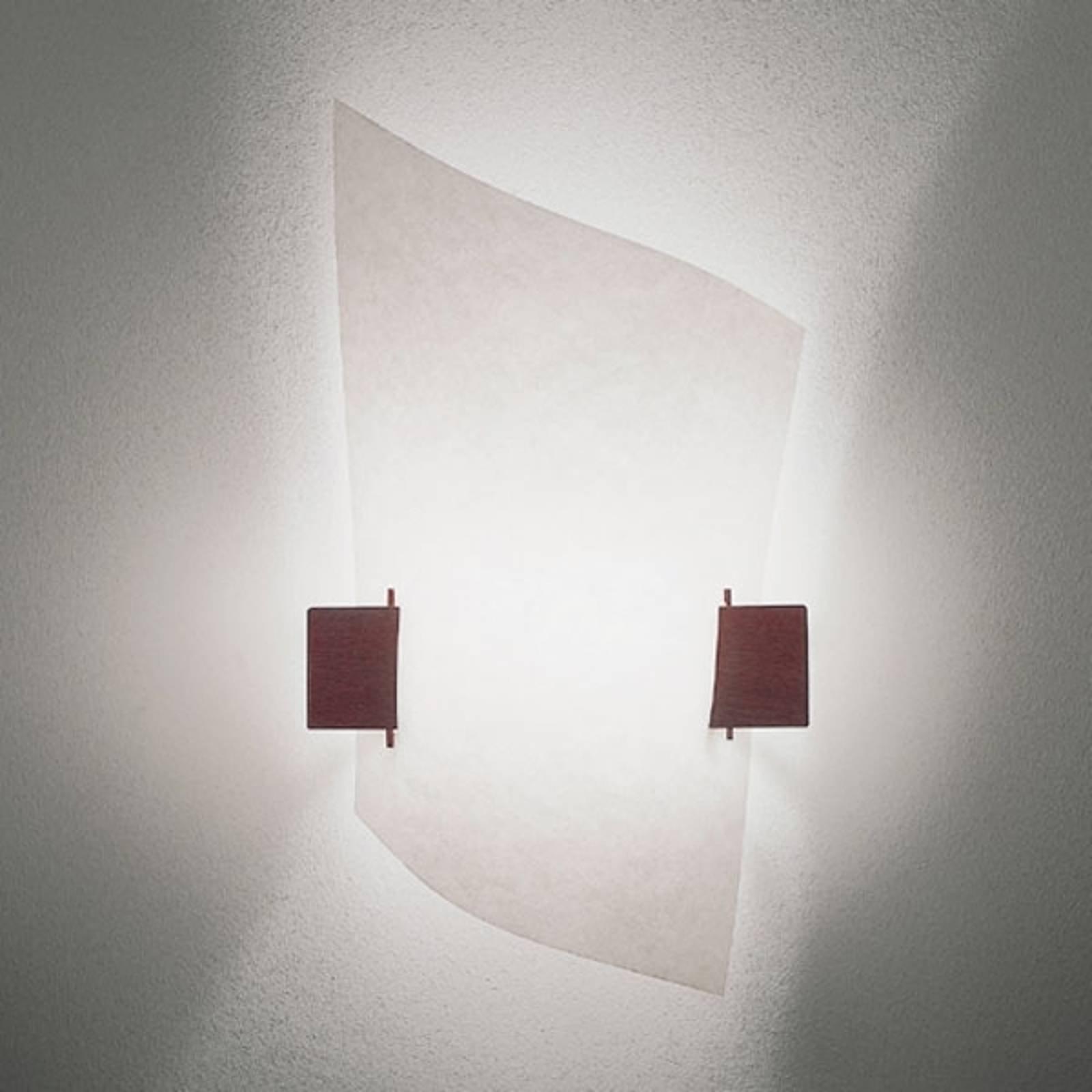 Designer vegglampe PLAN B med mørkt tre