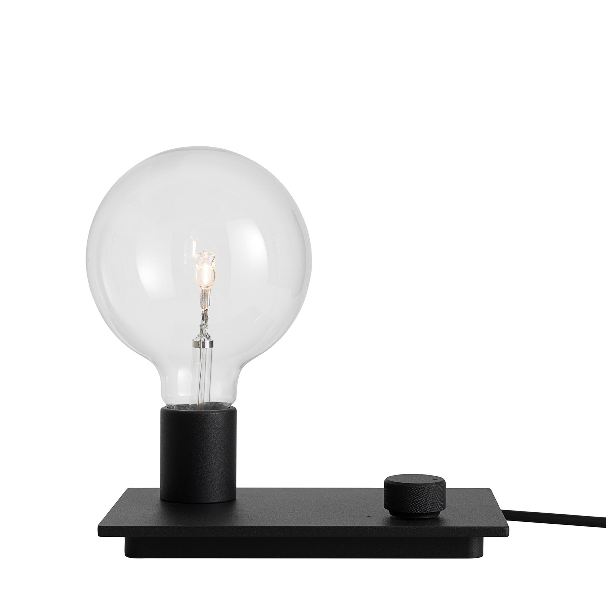 Muuto Lampa Control svart LED