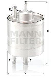 Polttoainesuodatin MANN-FILTER WK 711/1