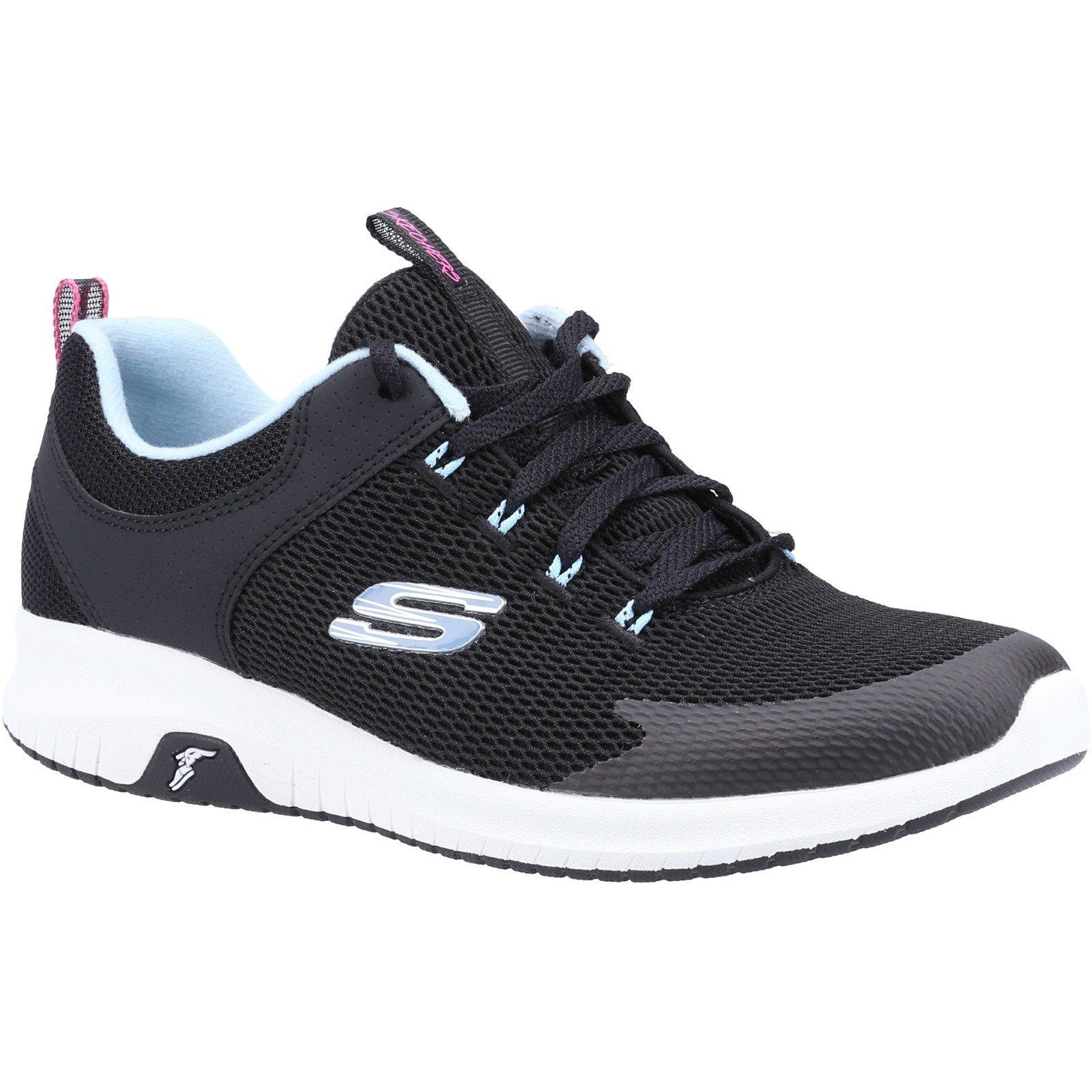 Skechers Women's Ultra Flex Prime Step Out Trainer Multicolor 32112 - Black/Light Blue 7
