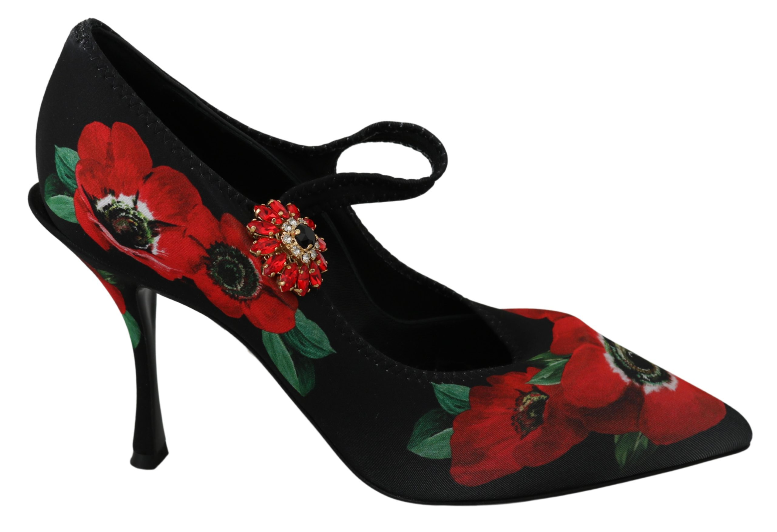 Dolce & Gabbana Women's Floral Mary Janes Pumps Red LA6586 - EU41/US10.5