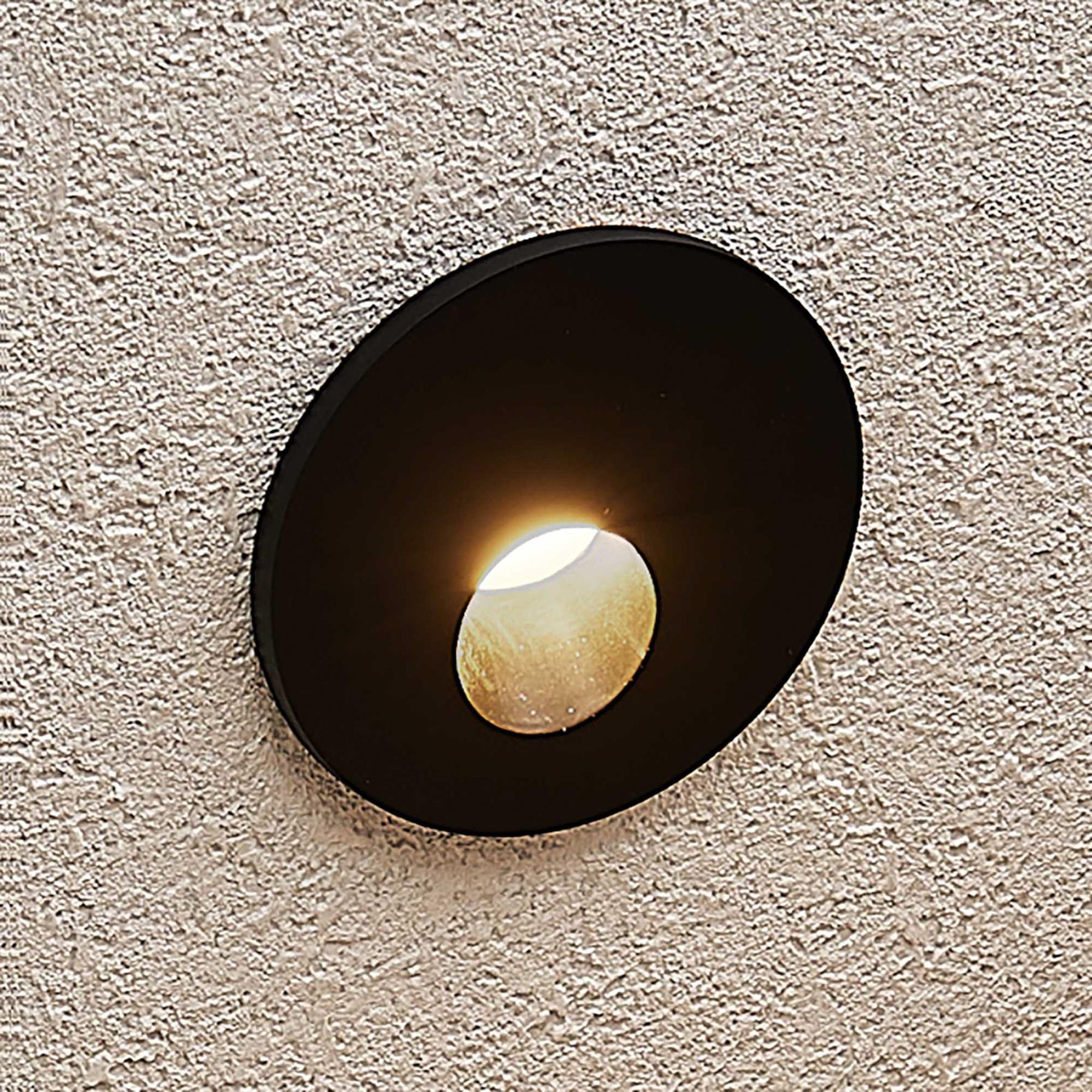 Arcchio Vexi -LED-uppovalaisin, pyöreä, musta