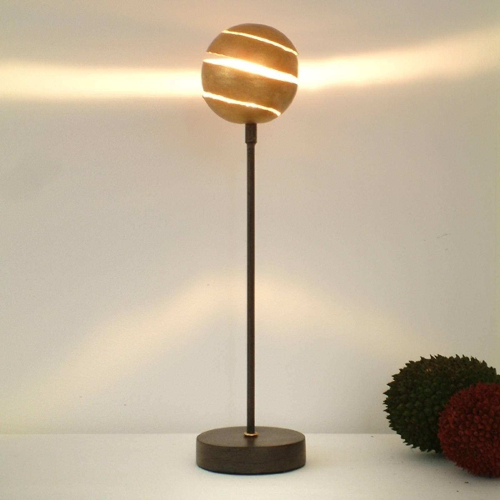 Dekorativ bordlampe KUGELBLITZ GOLD av jern