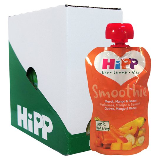 Hel Låda Smoothie Morot, Mango & Banan 5 x 100g - 61% rabatt