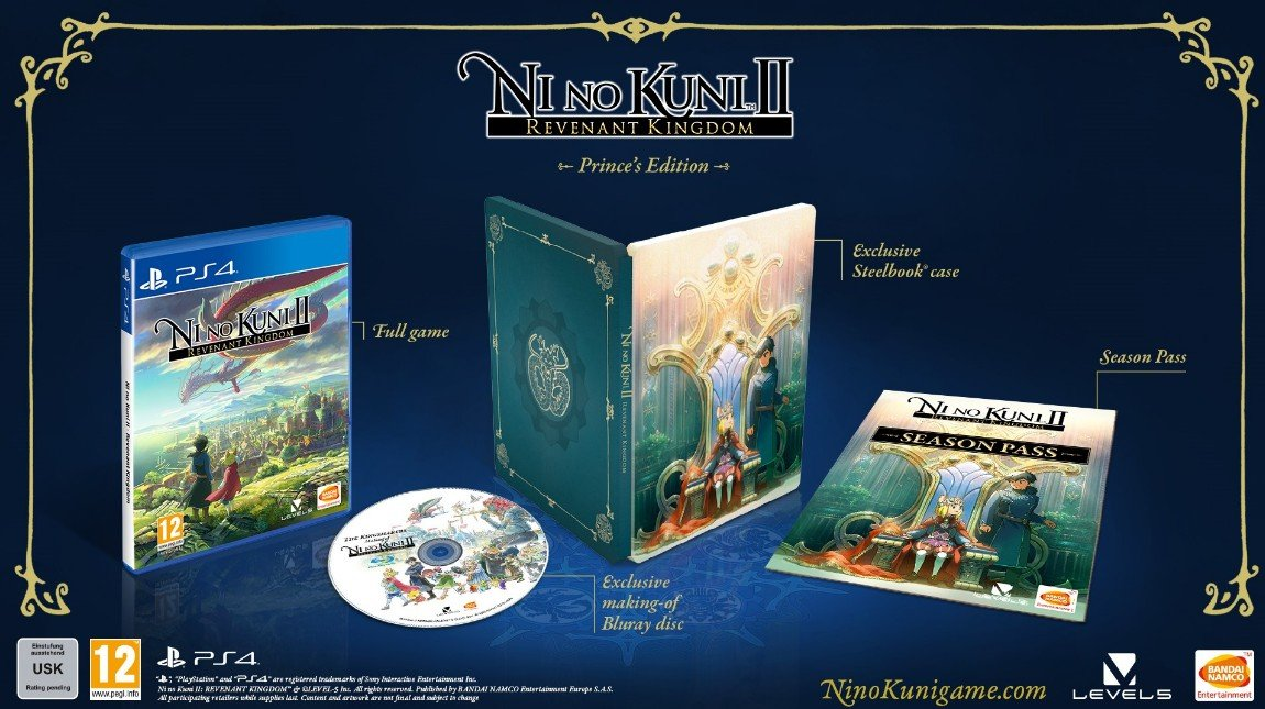 Ni No Kuni II (2): Revenant Kingdom (Steelbook + Season Pass + Kingsmaker Bluray)