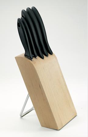 Essential Knivblokk med 5 kniver
