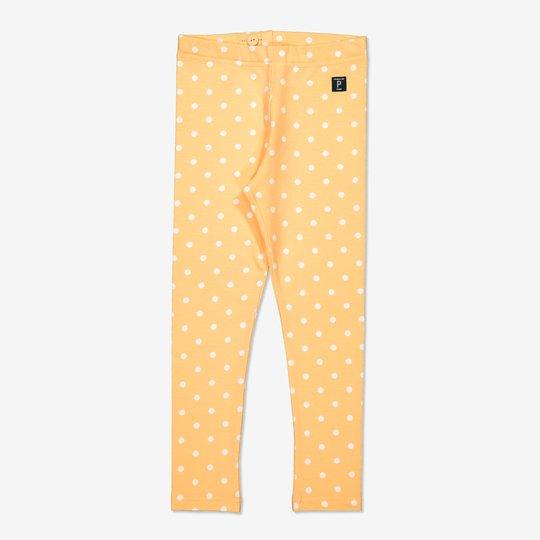 Prikket tights gul