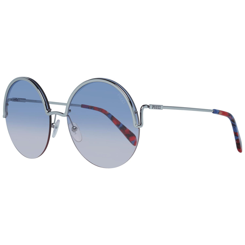 Emilio Pucci Women's Sunglasses Silver EP0117 6116W
