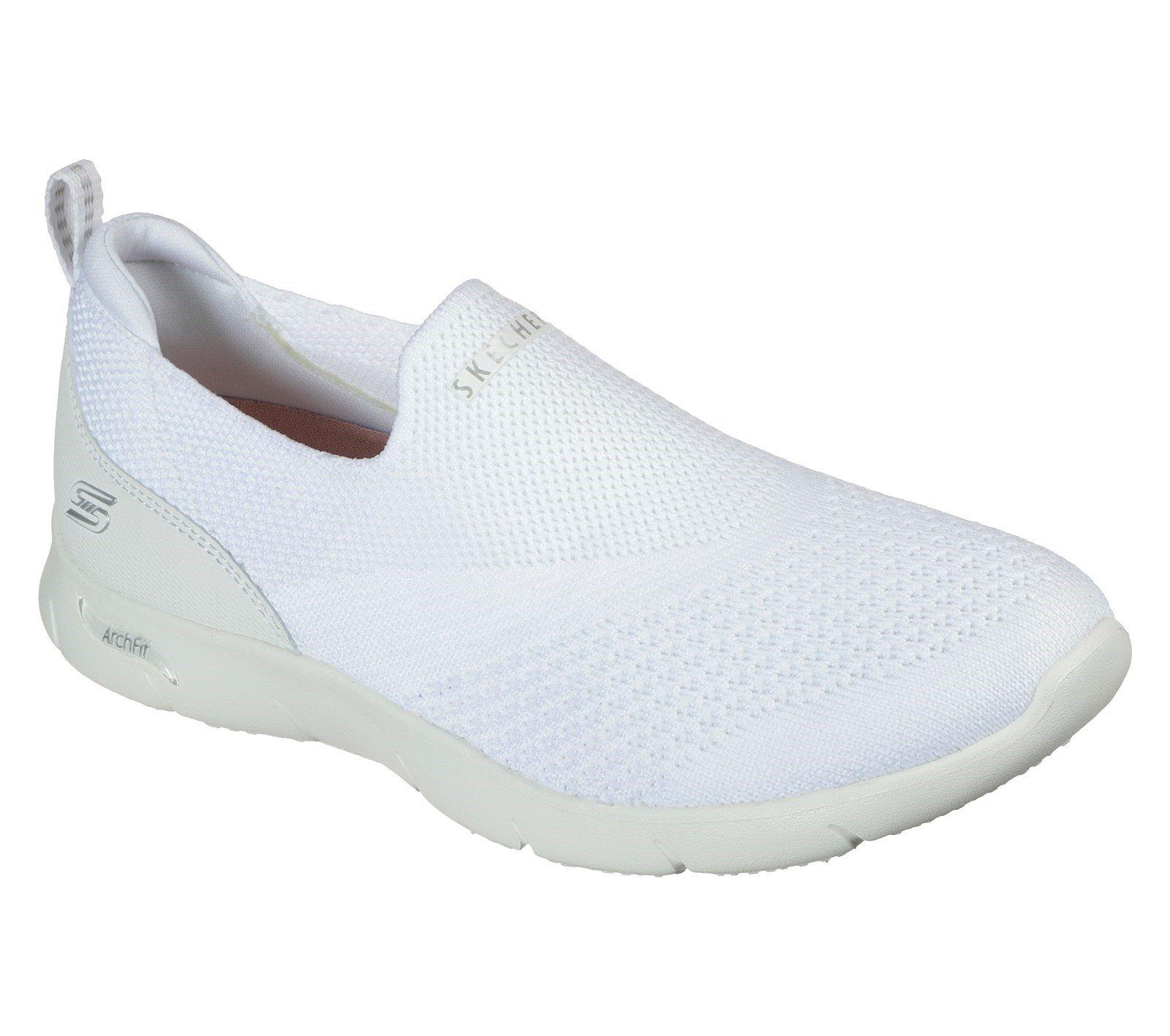 Skechers Women's Arch Fit Refine Trainer White 32720 - White 6