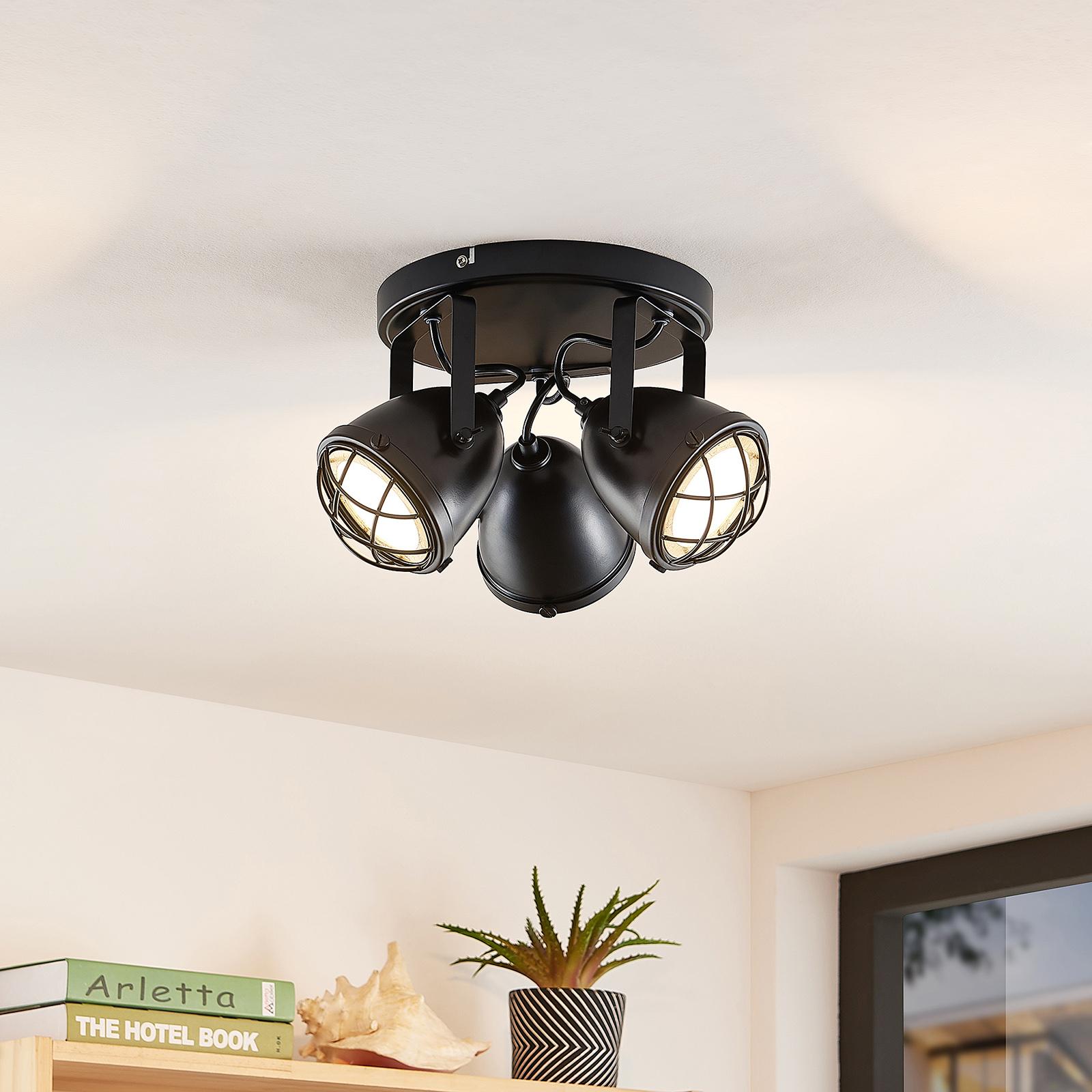 Lindby Biona -LED-kattokohdevalo, 3-lamppuinen
