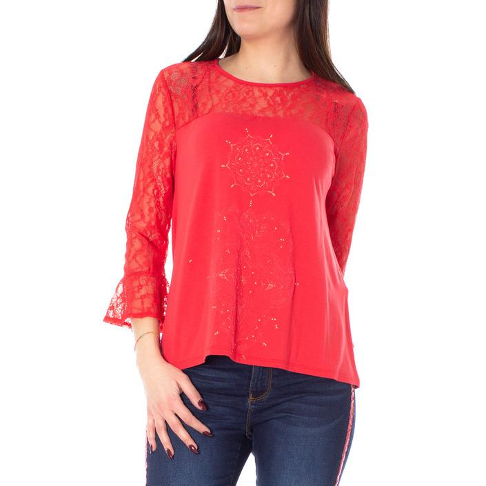 Desigual Women's T-Shirt Red 166592 - red S