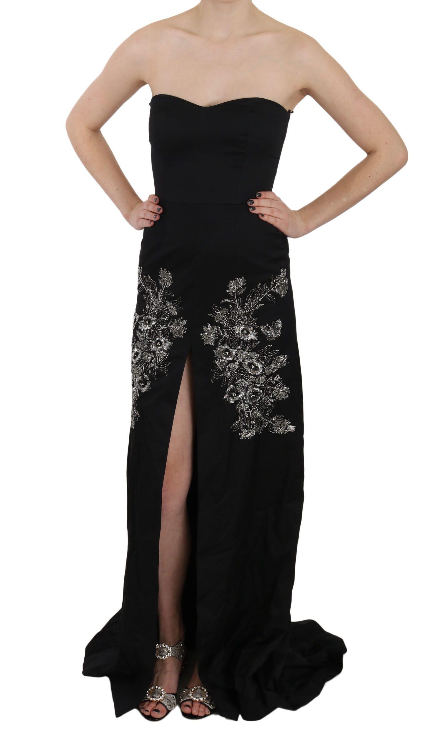 John Richmond Women's Sequined Flare Ball Dress Black DR1679 - IT42|M