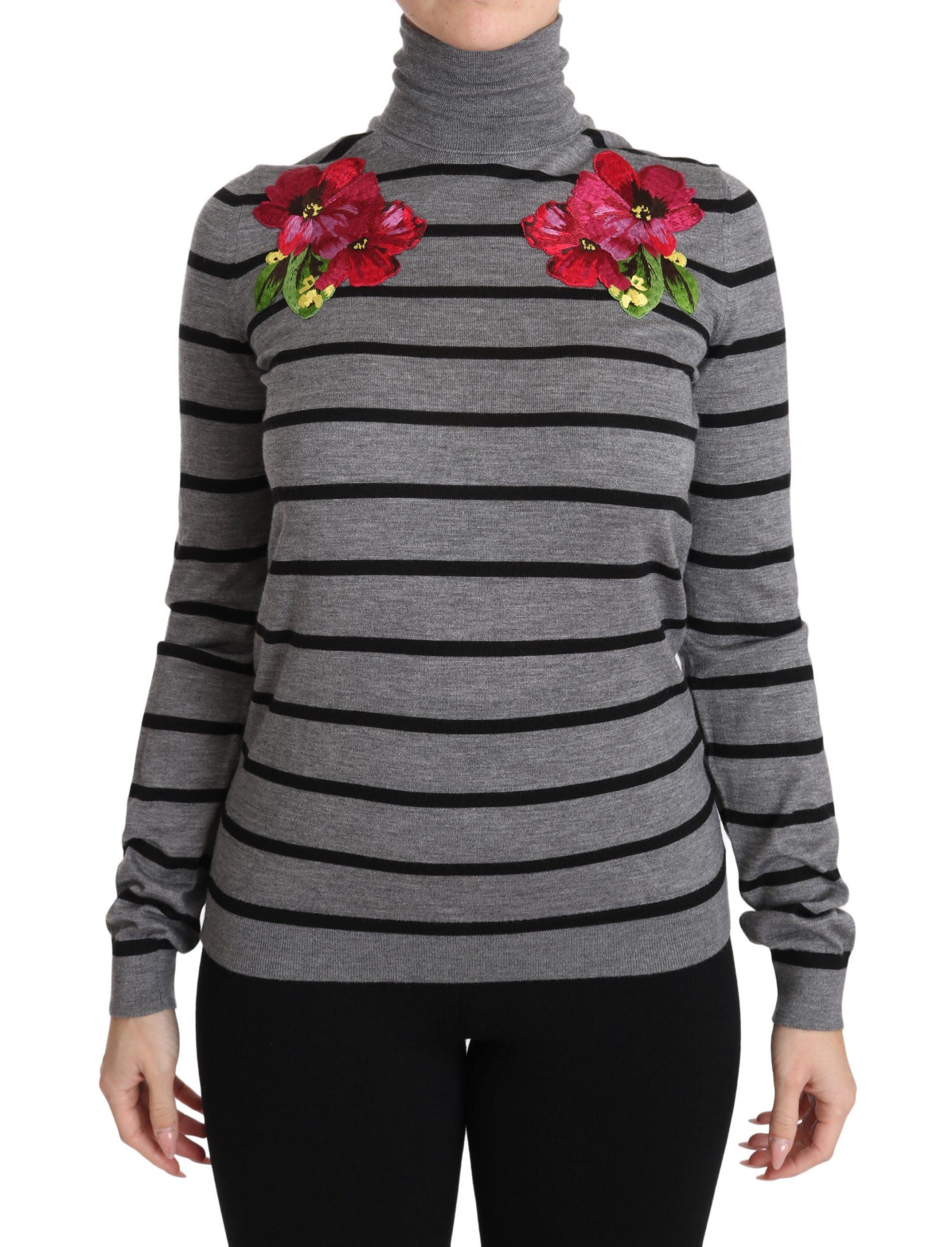 Dolce & Gabbana Women's Cashmere Silk Turtleneck Sweater Black TSH2985 - IT38|XS