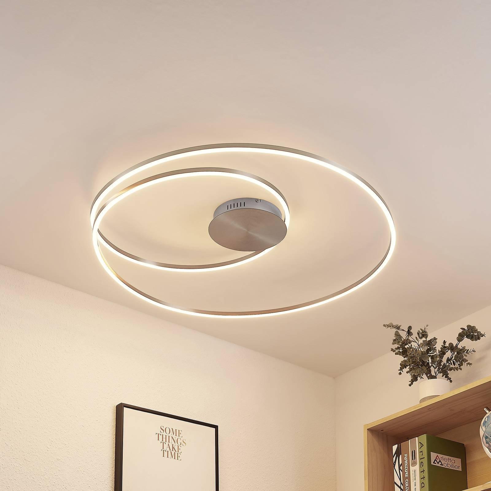 Lindby Imus LED-taklampe, dimbar, Ø 87 cm