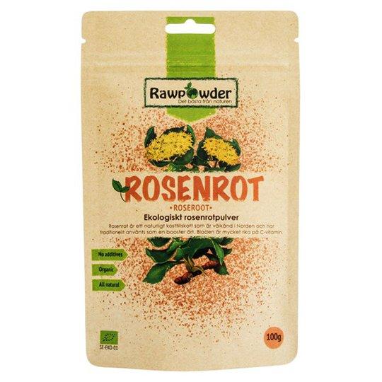 Rawpowder Ekologiskt Rosenrotpulver, 100 g