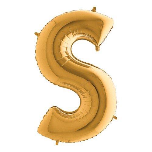 Bokstavsballong Guld - Bokstav S