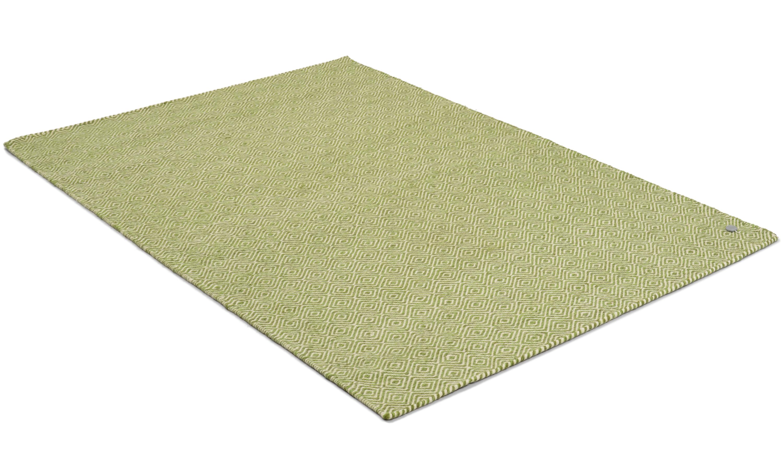 Orissa grønn - håndvevd ullteppe