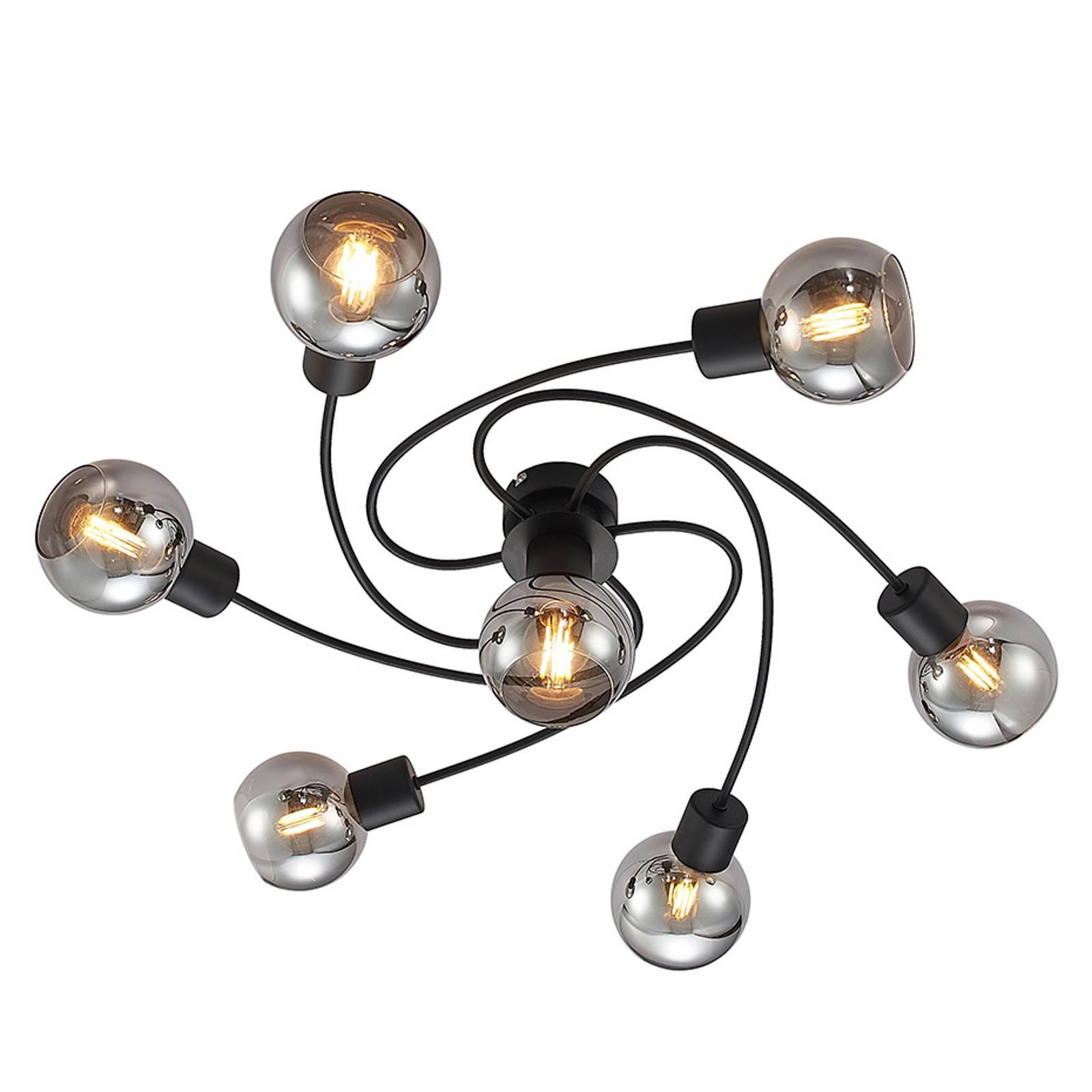 Lindby-LED-kattovalaisin Ciala, 7-lamp. savu