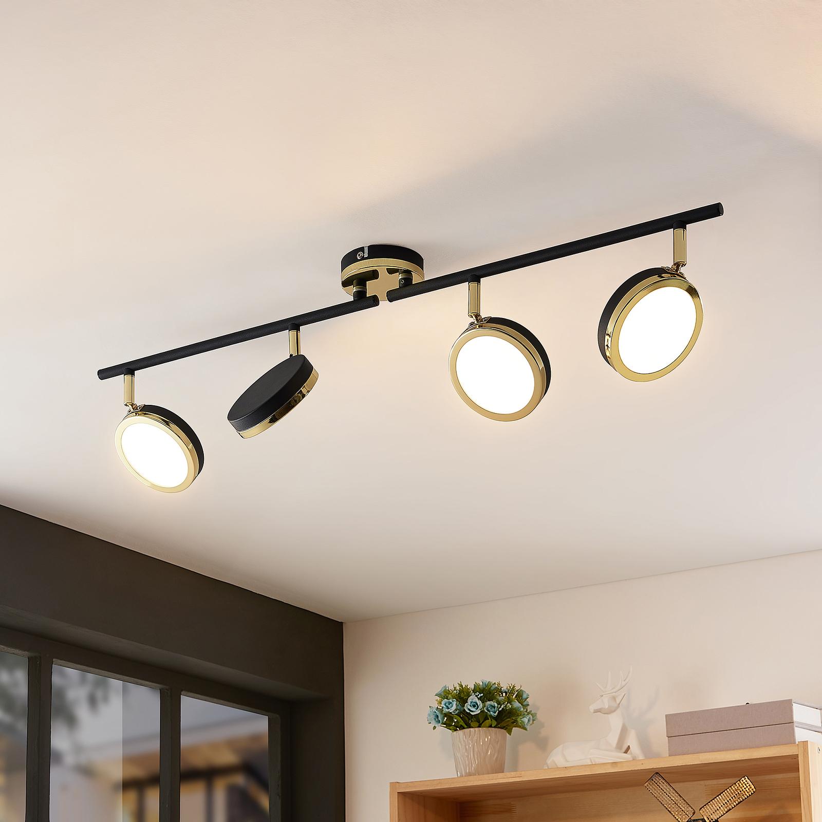 Lindby Alsani -LED-kattokohdevalo 4-lamppuinen