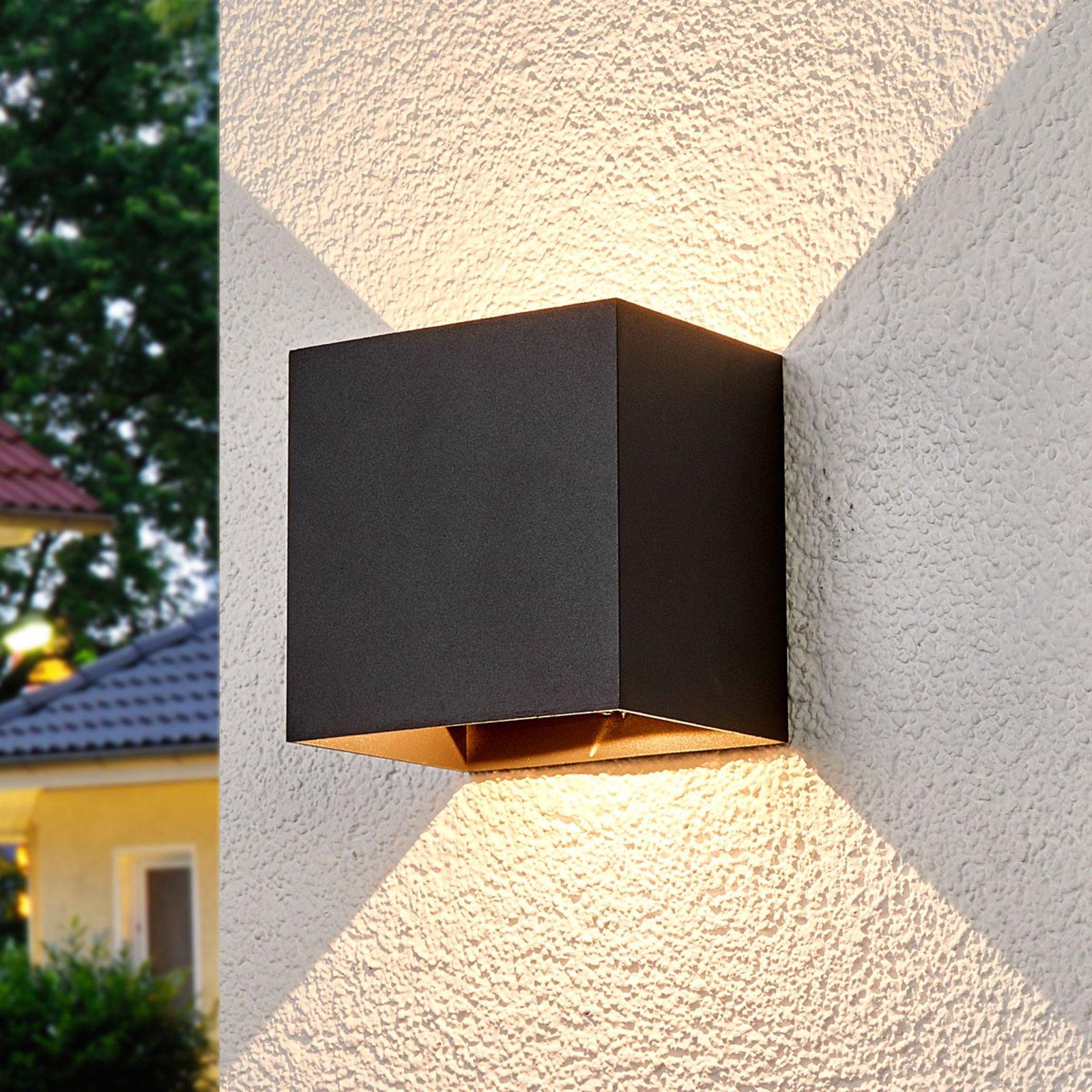 Evie utendørs vegglampe med LED-pærer