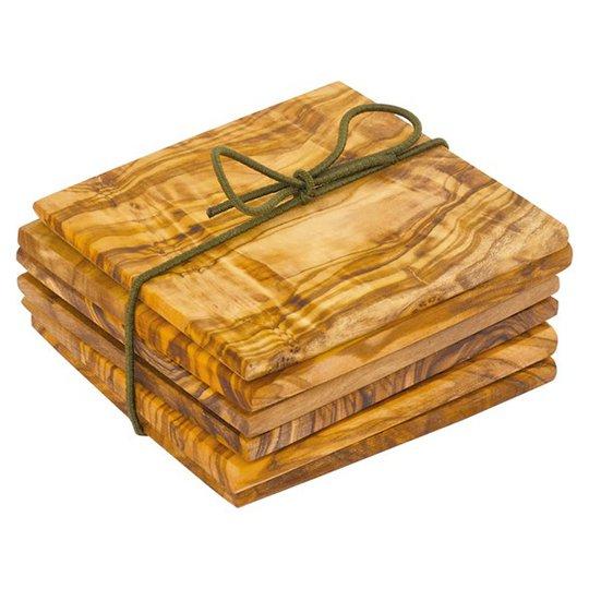 Redecker Glasunderlägg Olivträ, 6-pack