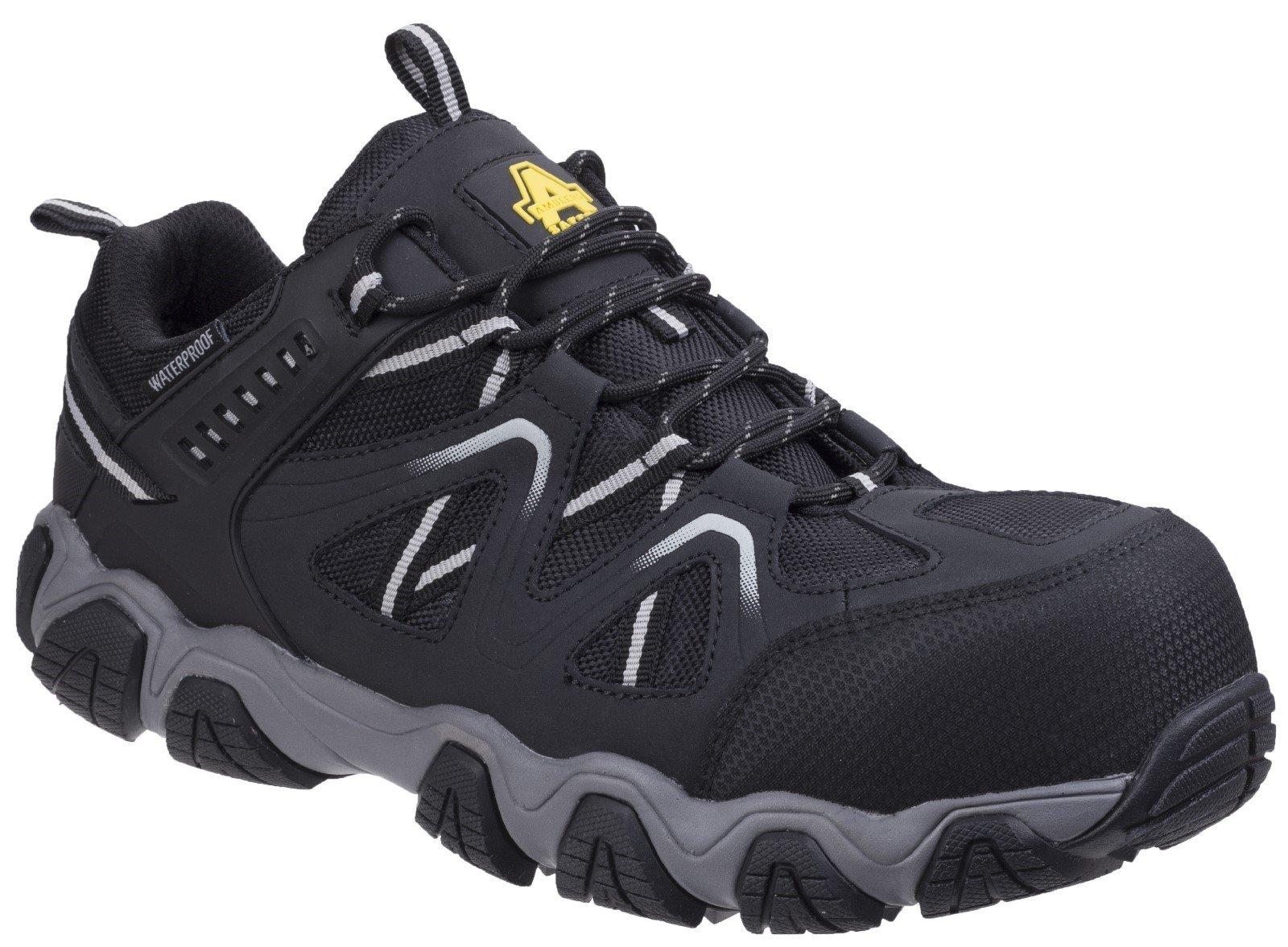 Amblers Unisex Safety Oakham Lace Up Trainer Multicolor - Black/Grey 13