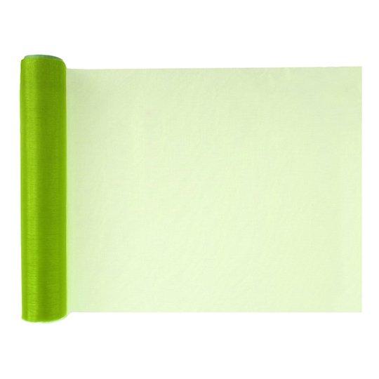Bordslöpare Organza Crystal Grön