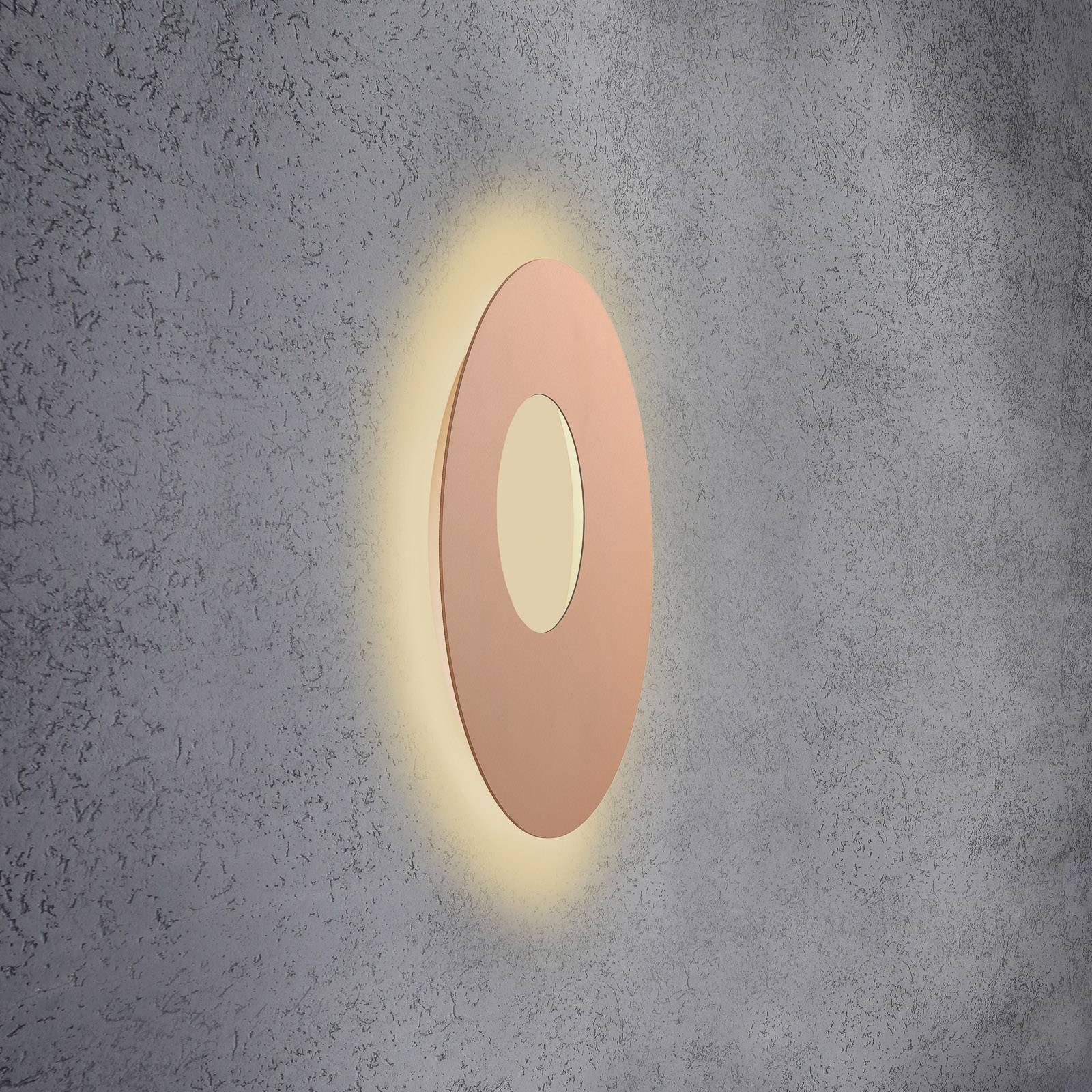 Escale Blade Open LED-vegglampe, rosé, Ø 59 cm