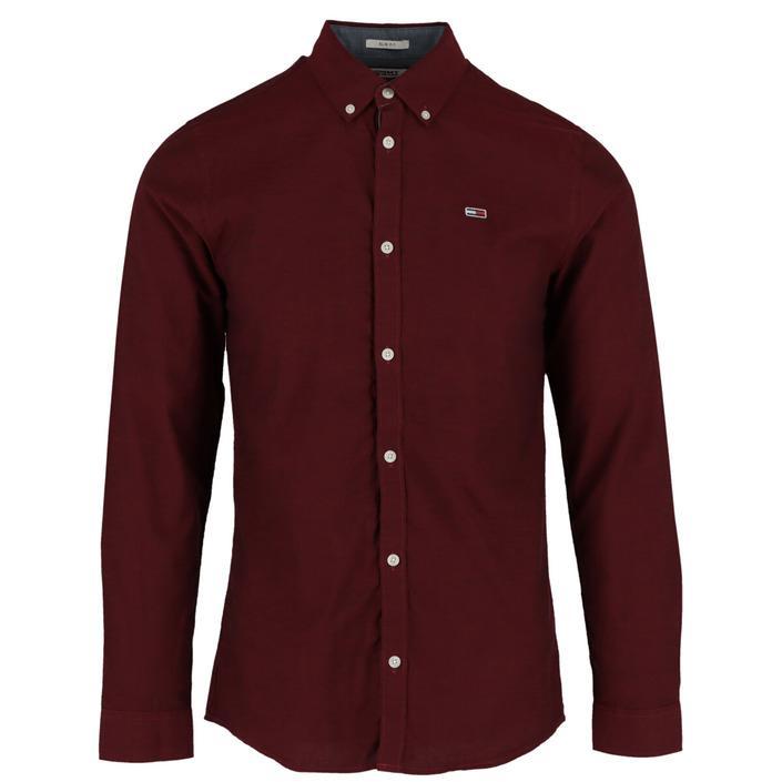Tommy Hilfiger Jeans Men's Shirt Bordeaux 306555 - bordeaux XS