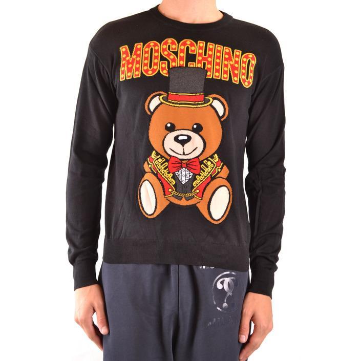 Moschino Men's Sweater Black 169287 - black 44