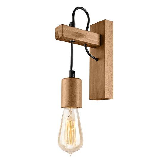 Vegglampe Tyske av tre, oliven