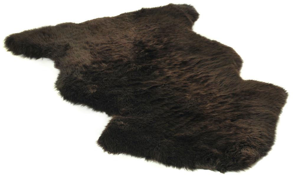 Langhåret saueskinn - mørkbrunt
