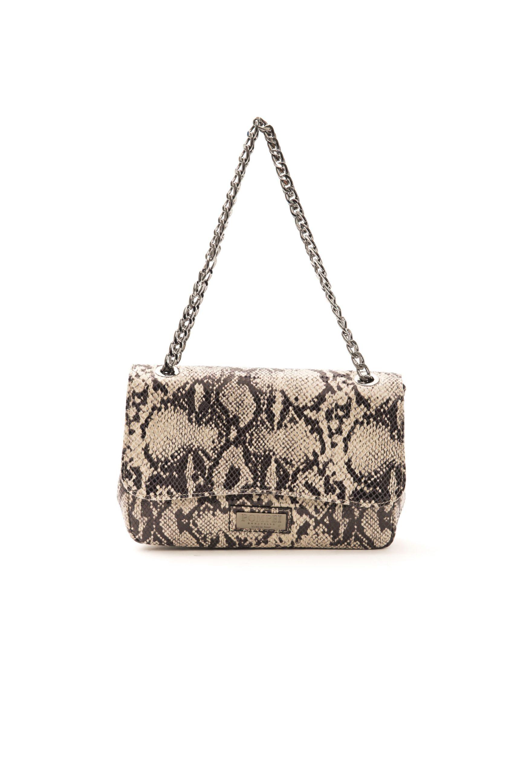 Pompei Donatella Women's Roccia Stone Crossbody Bag Grey PO1005103