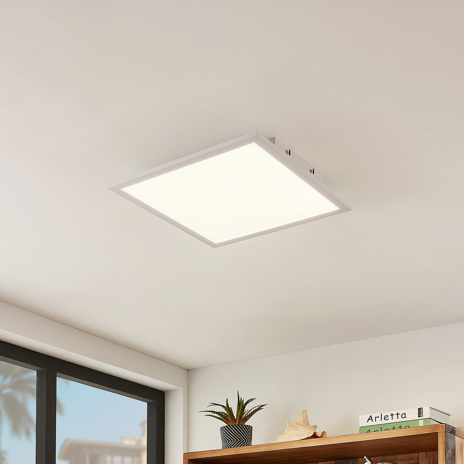 Lindby Quais LED-panel, 4 000 K, 40x40 cm